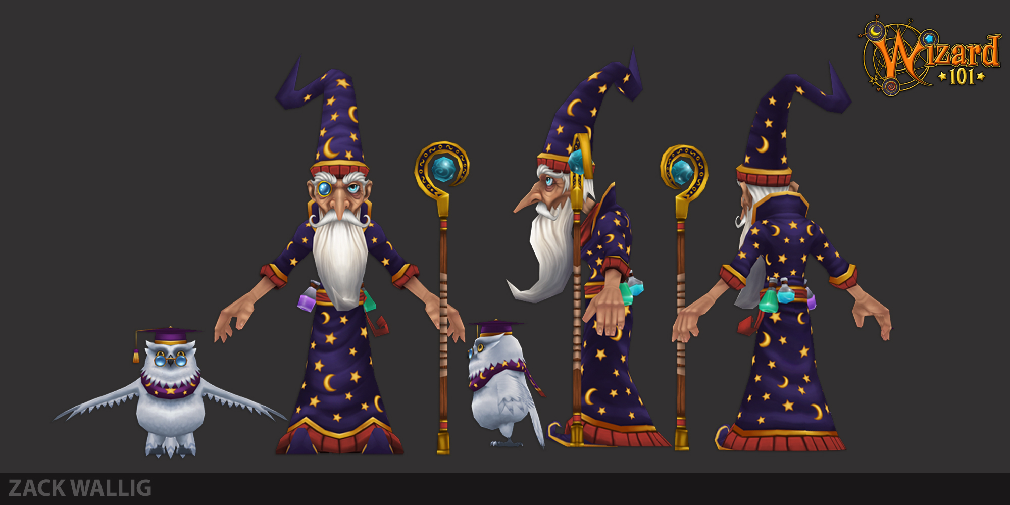 Wizard 101 Merl Ambros production art