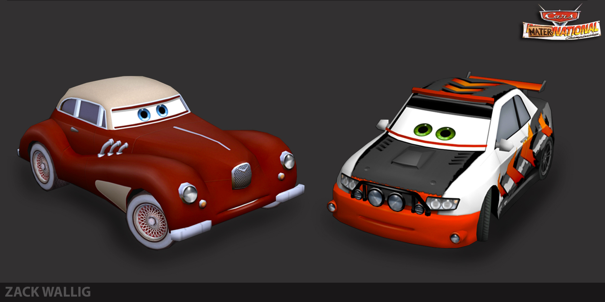 Production characters Cars Maternational